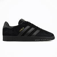 Мужские кроссовки Adidas Gazelle full black (лицензия)