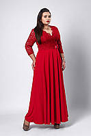 Платье мод №531-2, размер 54, 56,58 красное