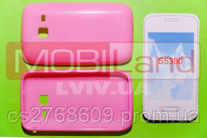 "Чохол силікон ""S""  Samsung S5380/Wave Y (pink)"