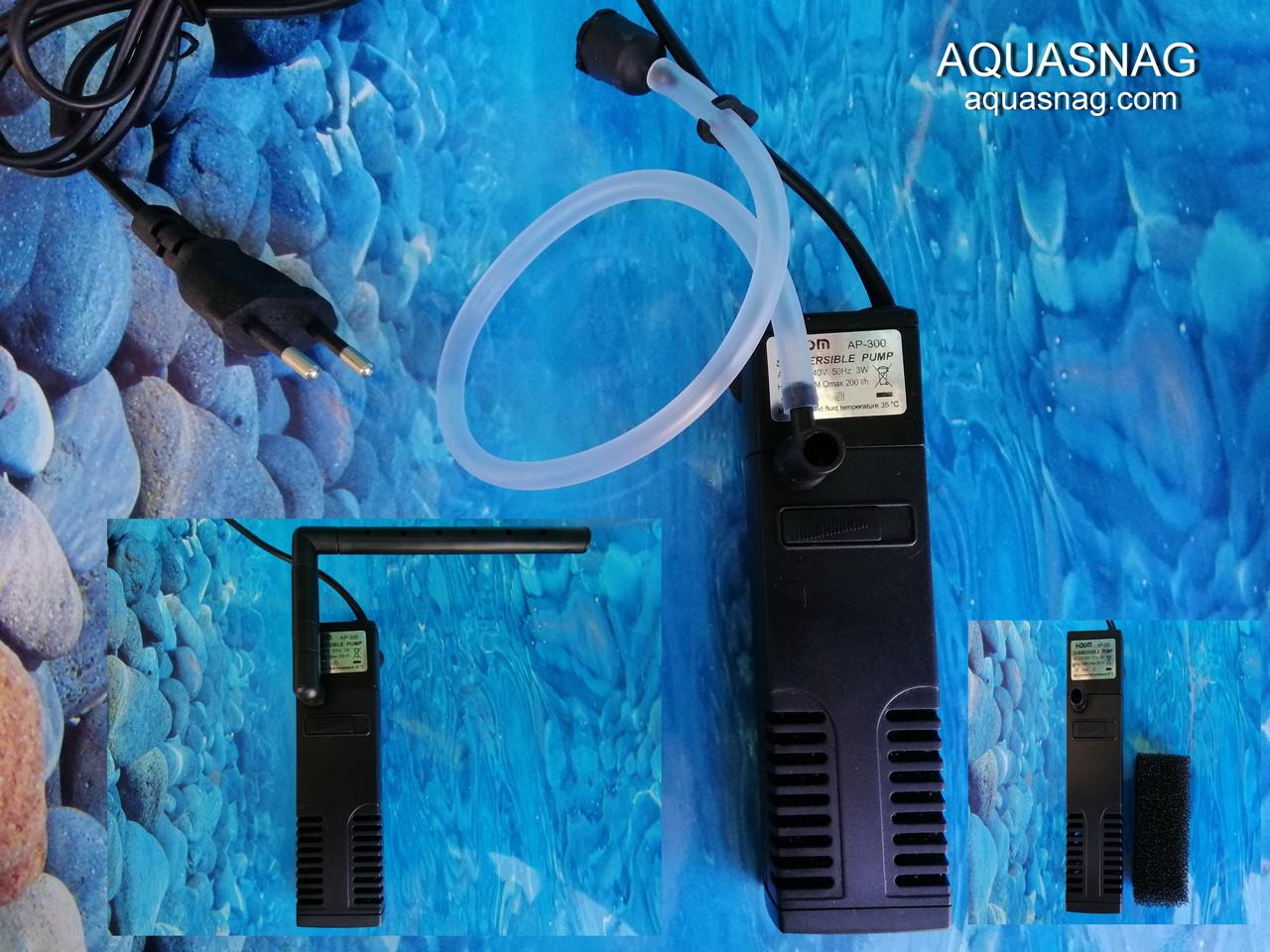 Фильтр Hidom AP-300L, до 40л с регулировкой мощности, 200л/ч, 3W