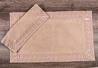 Коврик для ванной с кружевом (2шт). MACO Cotton. Турция