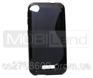 "Чехол / Чохол силікон ""S""  HTC Desire 320 (black)"