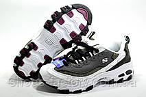 Женские кроссовки в стиле Skechers D'lites KK2347, Gray\White, фото 3