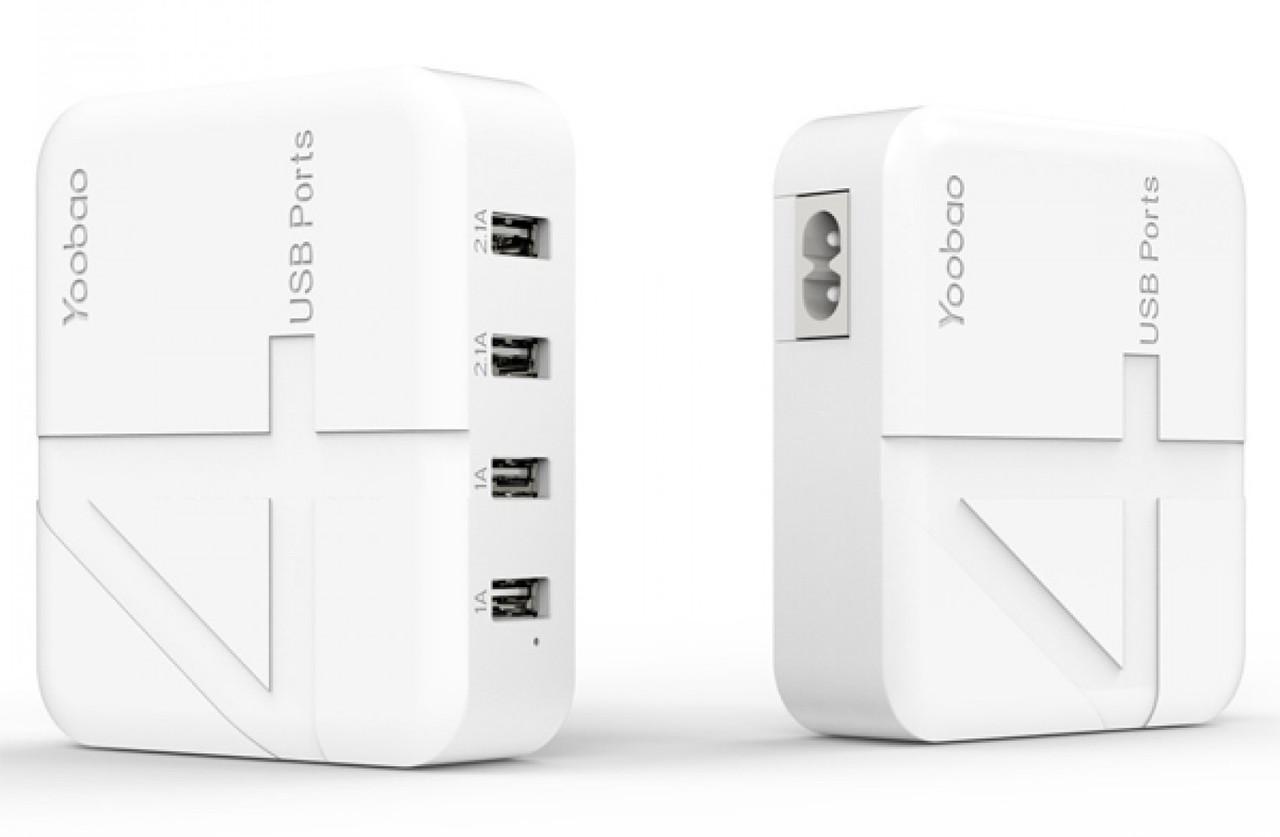Зарядний пристрій Yoobao YB-701 EU 1-2.1A 4xUSB Білий