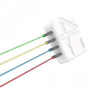 Зарядний пристрій Yoobao YB-701 EU 1-2.1A 4xUSB Білий, фото 2