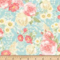 """Ткань для пэчворка и рукоделия американский хлопок  """"Роскошные цветы"""", 23*55 см"""