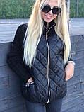 Стильна жіноча куртка бежева, чорна, темно синя, марсала, фото 5
