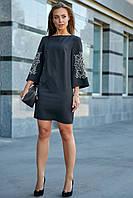 Классическое платье 3637 ,в расцветках (44-50) черное