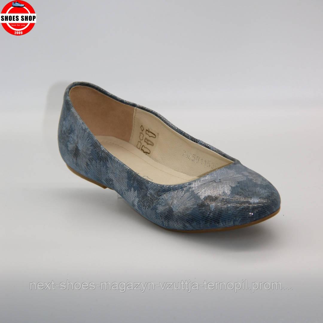 Жіночі балетки BALDACCINI (Польща) синього кольору. Дуже зручні та красиві. Стиль - Reese Witherspoon