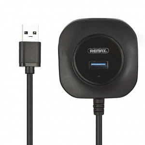 USB-HUB REMAX FONYE RU-U8 HighSpeed/MicroPower 1USB3.0/3USB2.0 Black