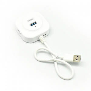 USB-HUB REMAX FONYE RU-U8 HighSpeed/MicroPower 1USB3.0/3USB2.0 White