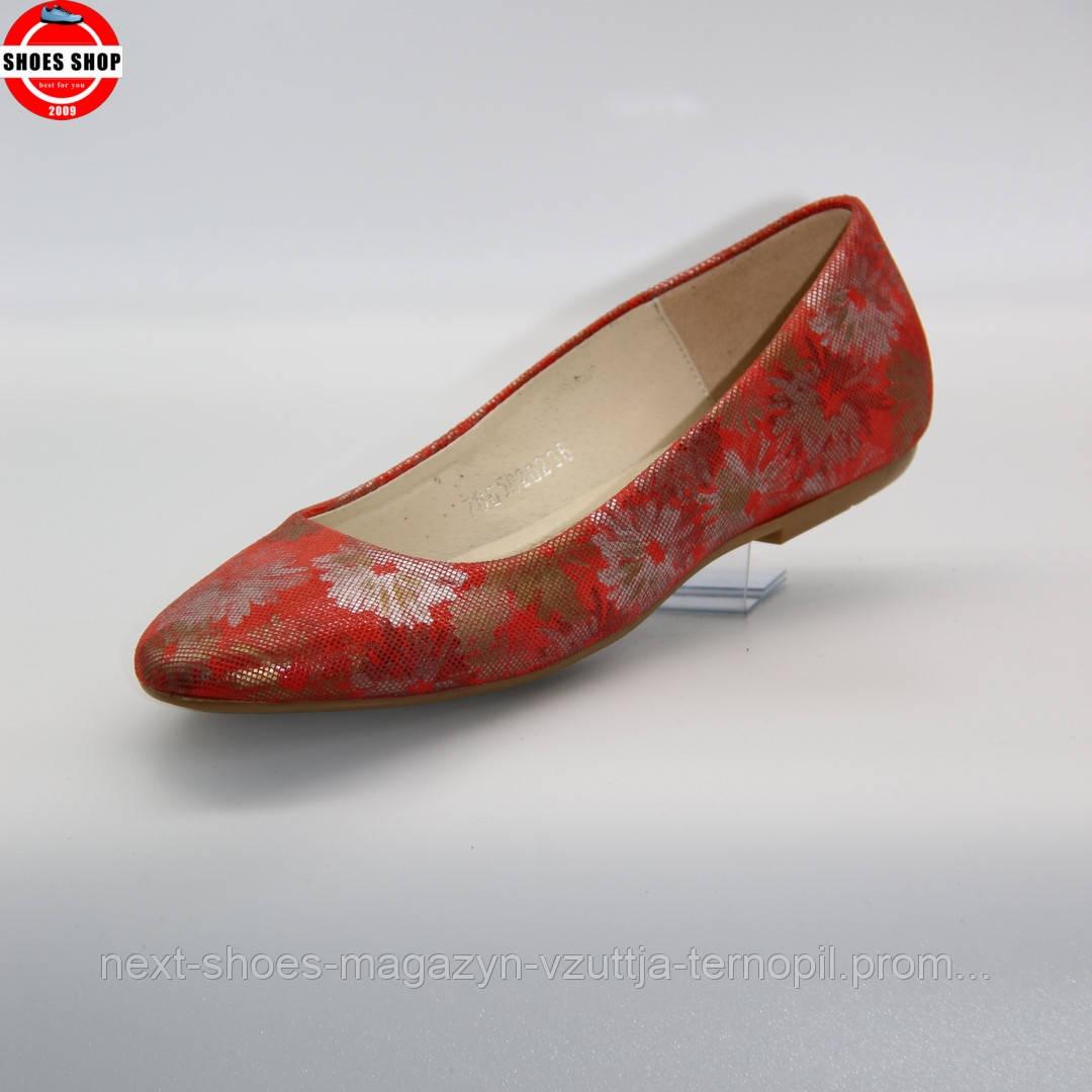Жіночі балетки BALDACCINI (Польща) червоного кольору. Дуже зручні та красиві. Стиль - Reese Witherspoon