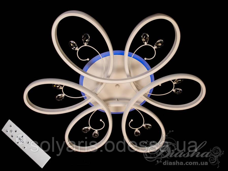 LED люстра с димером и подсветкой, 120W MX9977/700WH LED 3color dimmer