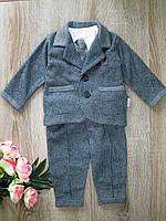 Детский нарядный костюм для мальчика с галстуком р 68