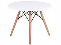 Журнальный столик Paris 60 см деревянный круглый Белый