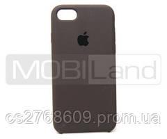 "Силікон ""Silicone Case Original"" iPhone 7, iPhone 8 темно сірий"