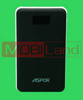 """PowerBank """"Aspor"""" A398 20000 mah (2USB/3A+3A) Mc Book Series soft touch (black)"""