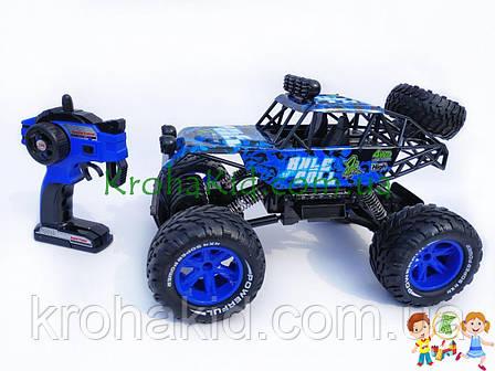 Машина на радиоуправлении (р/у) вездеход / багги 689-351 4WD OF ROAD аккумулятор 6V, масштаб 1:10 (синий), фото 2