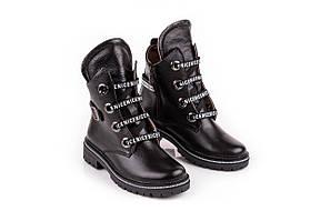 Модные ботинки женские  зимние 36-41 черный