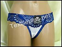 Трусики стринги Coeur joie синий 9701