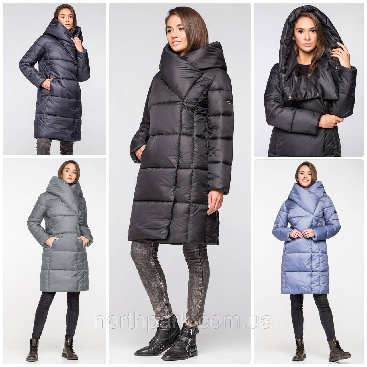 Довга зимова куртка ковдра KTL з об'ємним коміром