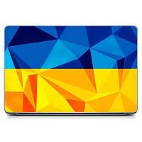 Декоративная наклейка стикер на ноутбук Ukraine flag Матовая