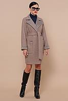 Женское осеннее пальто из шерсти