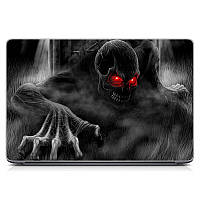 "Универсальная виниловая наклейка на ноутбук 15.6""-13.3"" Wicked Skeleton Матовая 380х250 мм"