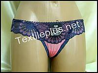 Трусики стринги Coeur joie синий - розовый 9701