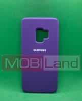 """Силікон """"Silicone Case Original"""" Samsung J250, J2 2018 фіолетовий закритий низ"""