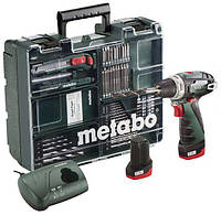 Шуруповерт METABO PowerMaxx BS Basic Mobile Workshop NEW + набор аксессуаров (63шт) (600080880)