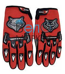 Перчатки велосипедные  KNIOHTHOOD (красные) с пальцами