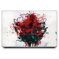 Крутая виниловая наклейка на все марки и модели ноутбуков Blood rose Матовая