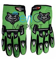 Перчатки велосипедные  KNIOHTHOOD (зеленые) с пальцами