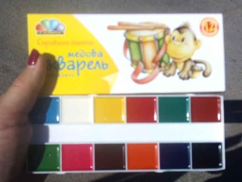 Краски акварель Гамма 12цв картон 311036