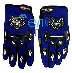 Перчатки велосипедные  KNIOHTHOOD (синие) с пальцами