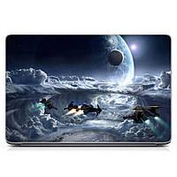 Прикольная виниловая наклейка для ноутбука Future, space Матовая