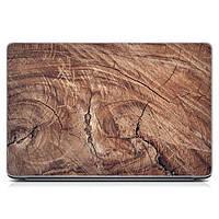 Прикольная виниловая наклейка для ноутбука Дерево в разрезе Матовая