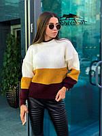 Полосатый женский свитер, фото 1