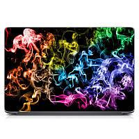 Виниловая наклейка на ноутбук Asus, Acer, Lenovo, Hp, MSI, Macbook Red Легкая дымка Матовый