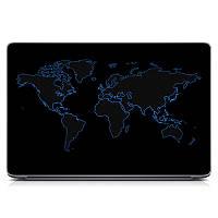 Виниловая наклейка на ноутбук Asus, Acer, Lenovo, Hp, MSI, Macbook Red Map Матовый