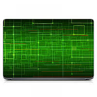 Виниловая наклейка на ноутбук Asus, Acer, Lenovo, Hp, MSI, Macbook Red Зеленый фон Матовый