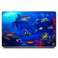 Виниловая наклейка на ноутбук Asus, Acer, Lenovo, Hp, MSI, Macbook Red Водный мир Матовый