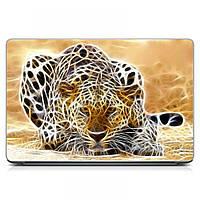 Виниловый стикер на ноутбук Asus, Acer, Lenovo, Hp, MSI, Macbook Red Гепард 3 Матовый