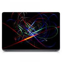 Виниловый стикер для ноутбука Red Фантастические узоры Матовый
