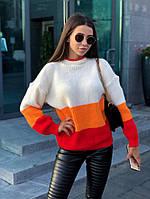 Стильный полосатый свитер женский, фото 1