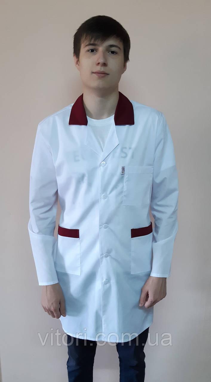 Мужской медицинский халат Классик коттоновый