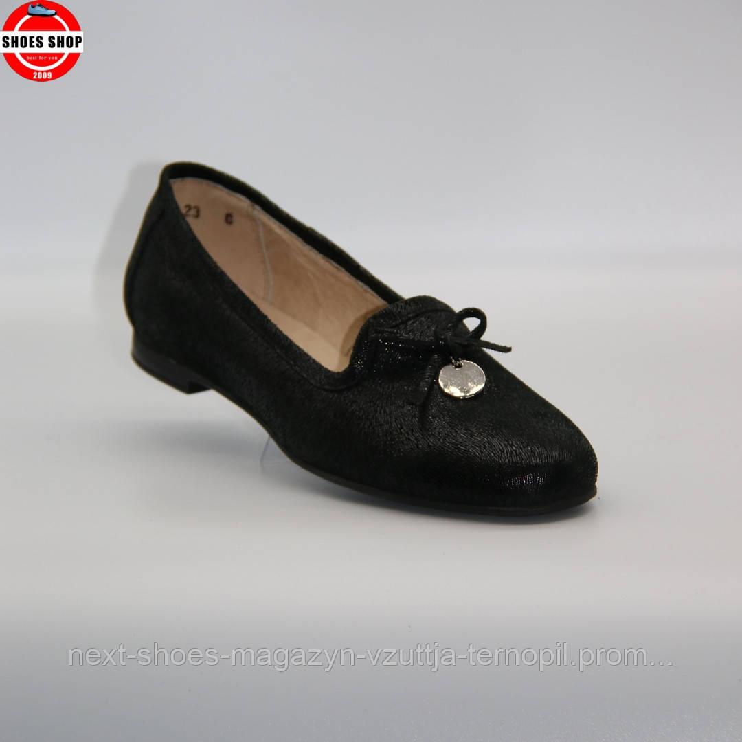 Жіночі балетки Lesta (Польща) чорного кольору. Дуже зручні та красиві. Стиль - Шарлотта Казірагі