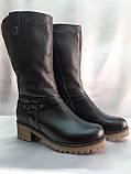 Комфортные зимние чёрные полусапожки,сапоги больших размеров Romax, фото 2