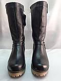 Комфортные зимние чёрные полусапожки,сапоги больших размеров Romax, фото 7